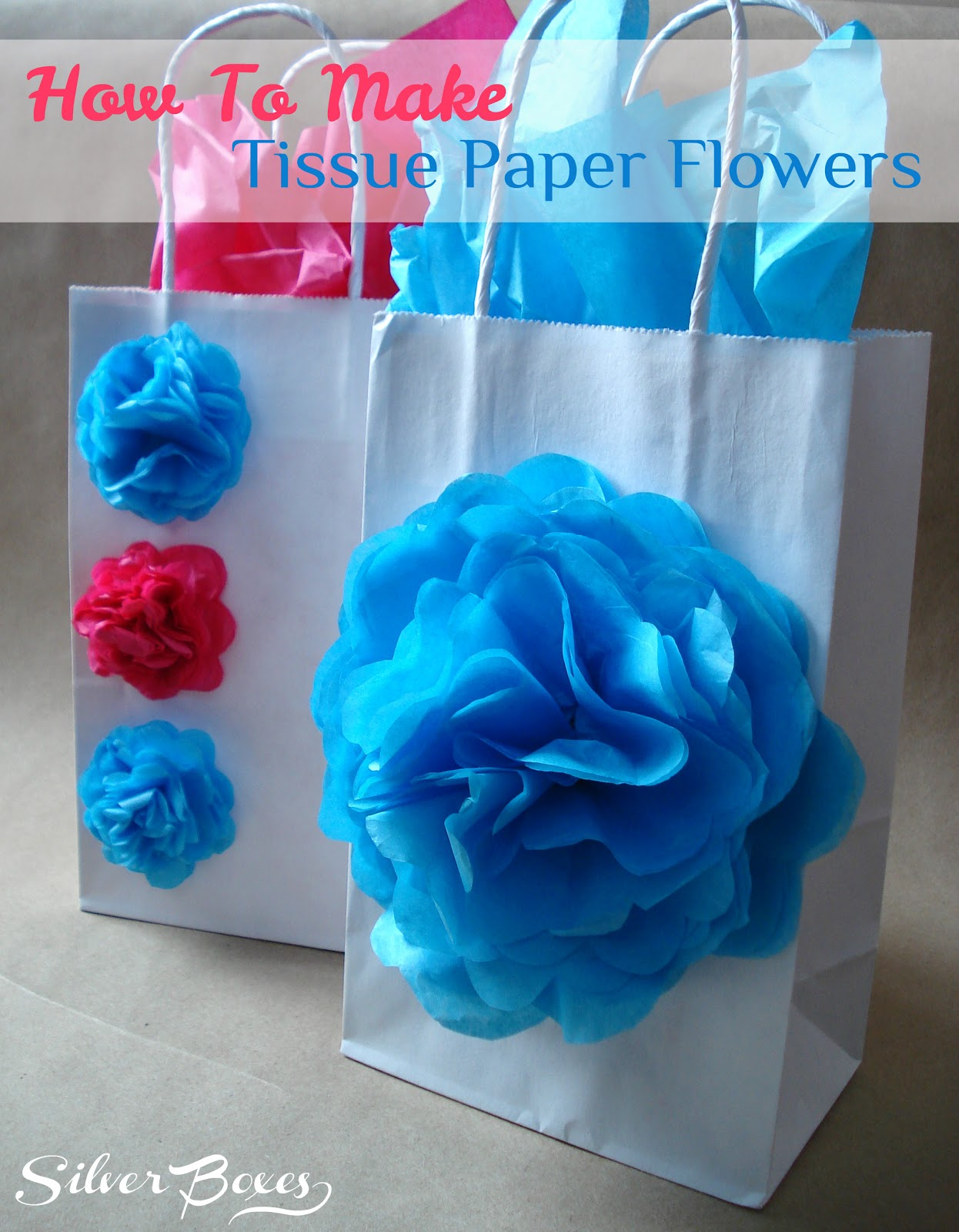 How to make tissue paper flowers for napkin rings