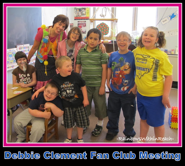 photo of: Debbie Clement meets her Fan Club Members: Children with Special Needs