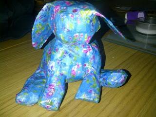 Decoupage bunny :)