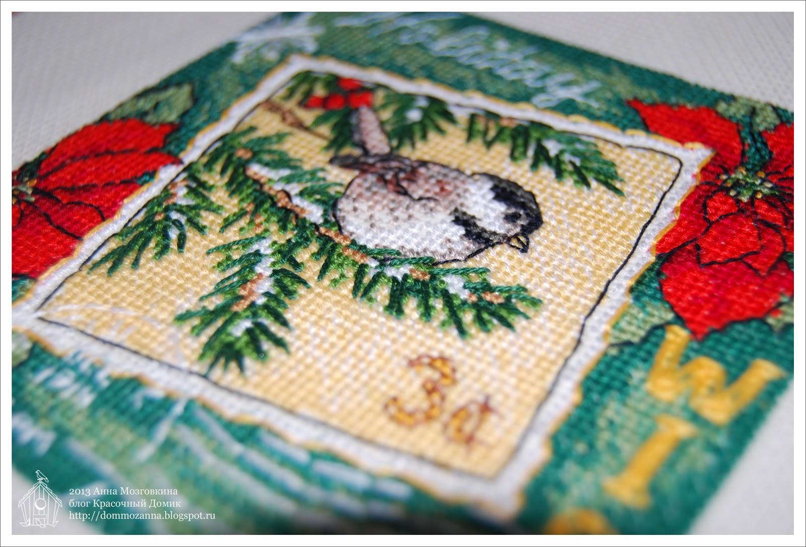 Dimensions Wish Ornament синица вышивка крестом