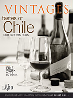 Vintages Magazine Cover: August 6, 2011 Wine Release