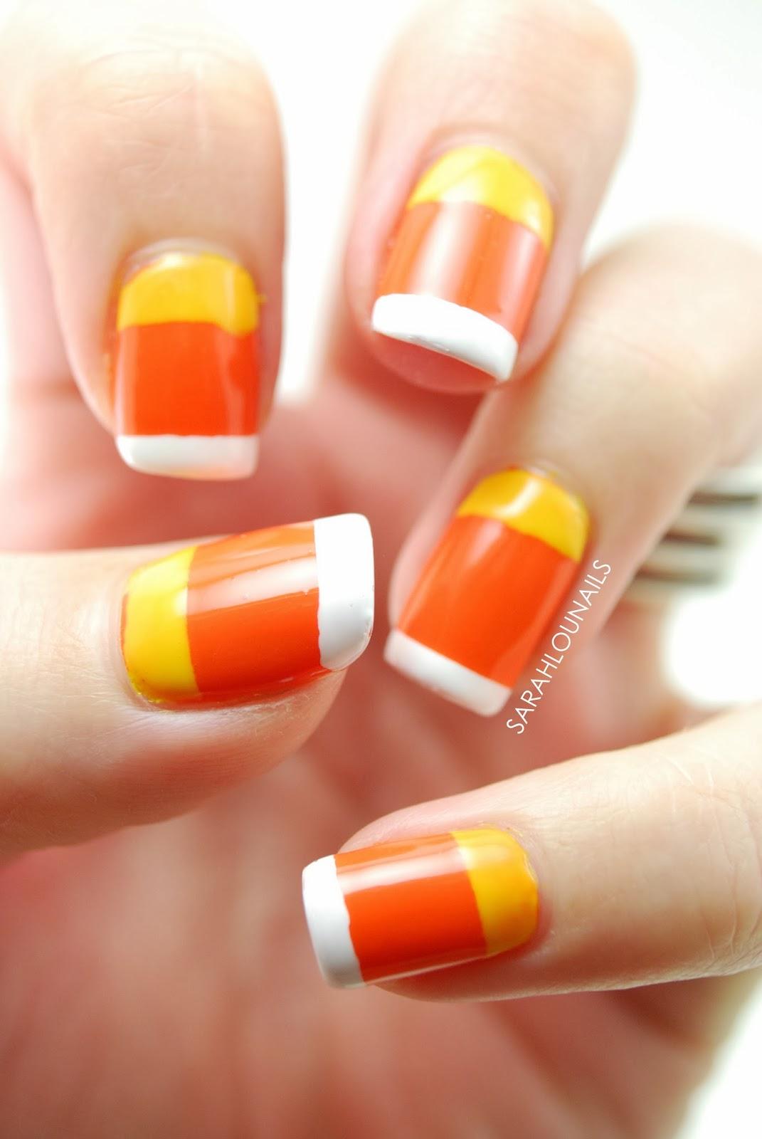 Sarah lou nails candy corn nails candy corn nails prinsesfo Image collections