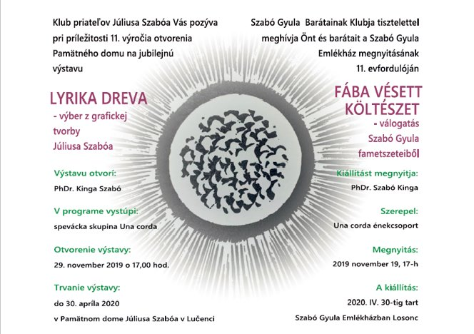 FÁBA VÉSETT KÖLTÉSZET - kiállítás
