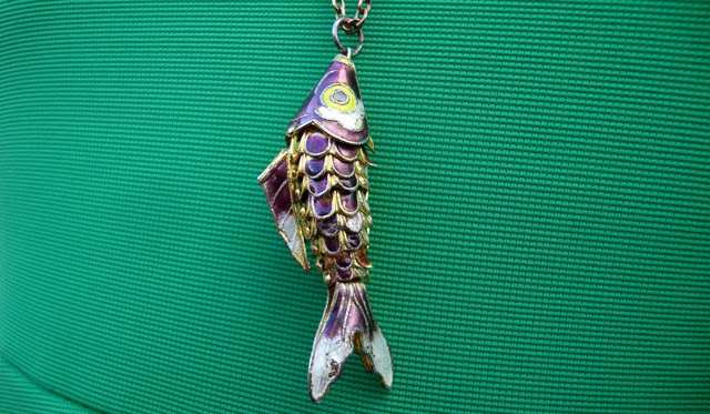 necklace, fish, china, purple fish