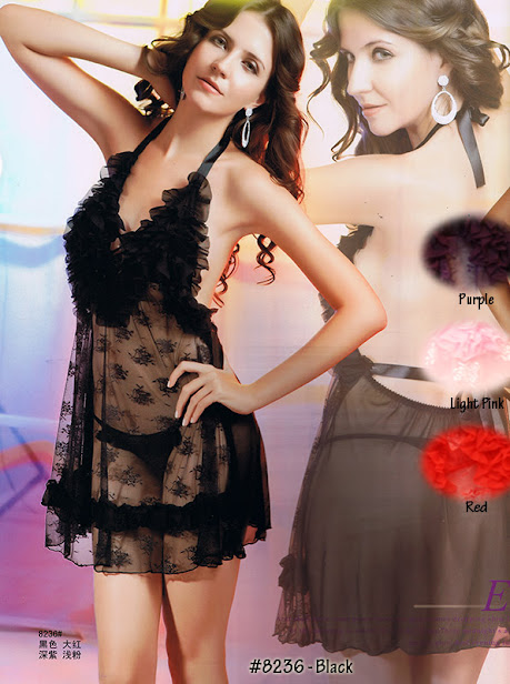 8236 : BLACK only, Free Size (Size Fits Most S, M & L) with G-String before RM 49 now only RM 39 !!