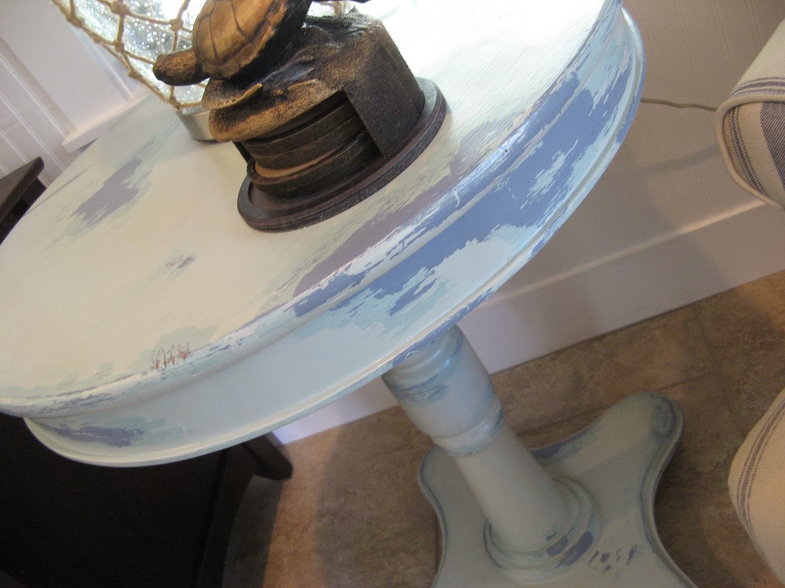 END TABLE - CANDLEWAX & VASELINE PAINT DISTRESSED