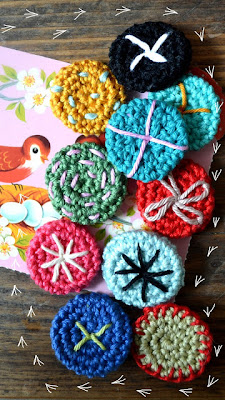 free crochet button pattern