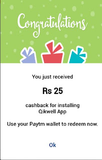 Qikwell Offer - Refer & Earn Rs 25 Paytm Cash Per Referral