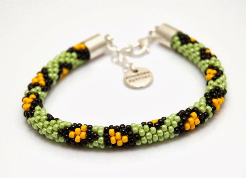 bransoletka koralikowa szydełkowa bead crochet bracelet 13