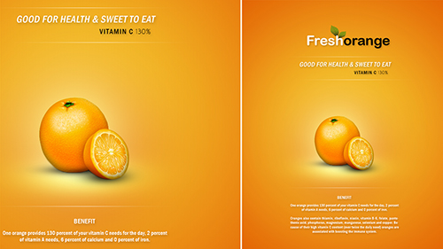 Photoshop Tutorial Clean And Minimal Poster Fresh Orange