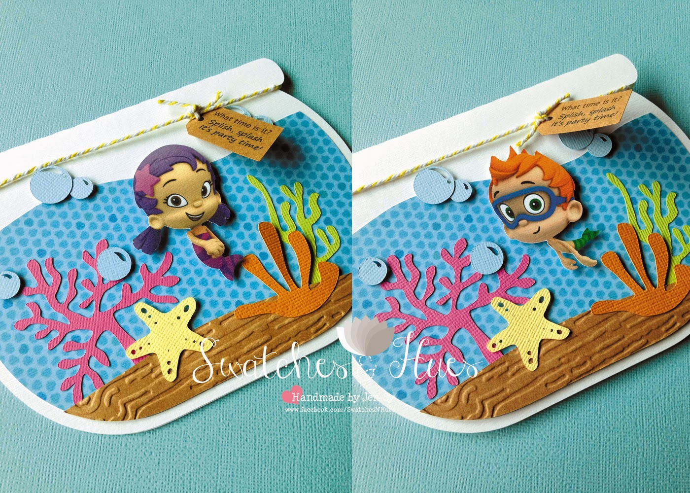 Swatches & Hues : Handmade with TLC: Bubble Guppies themed aquarium ...