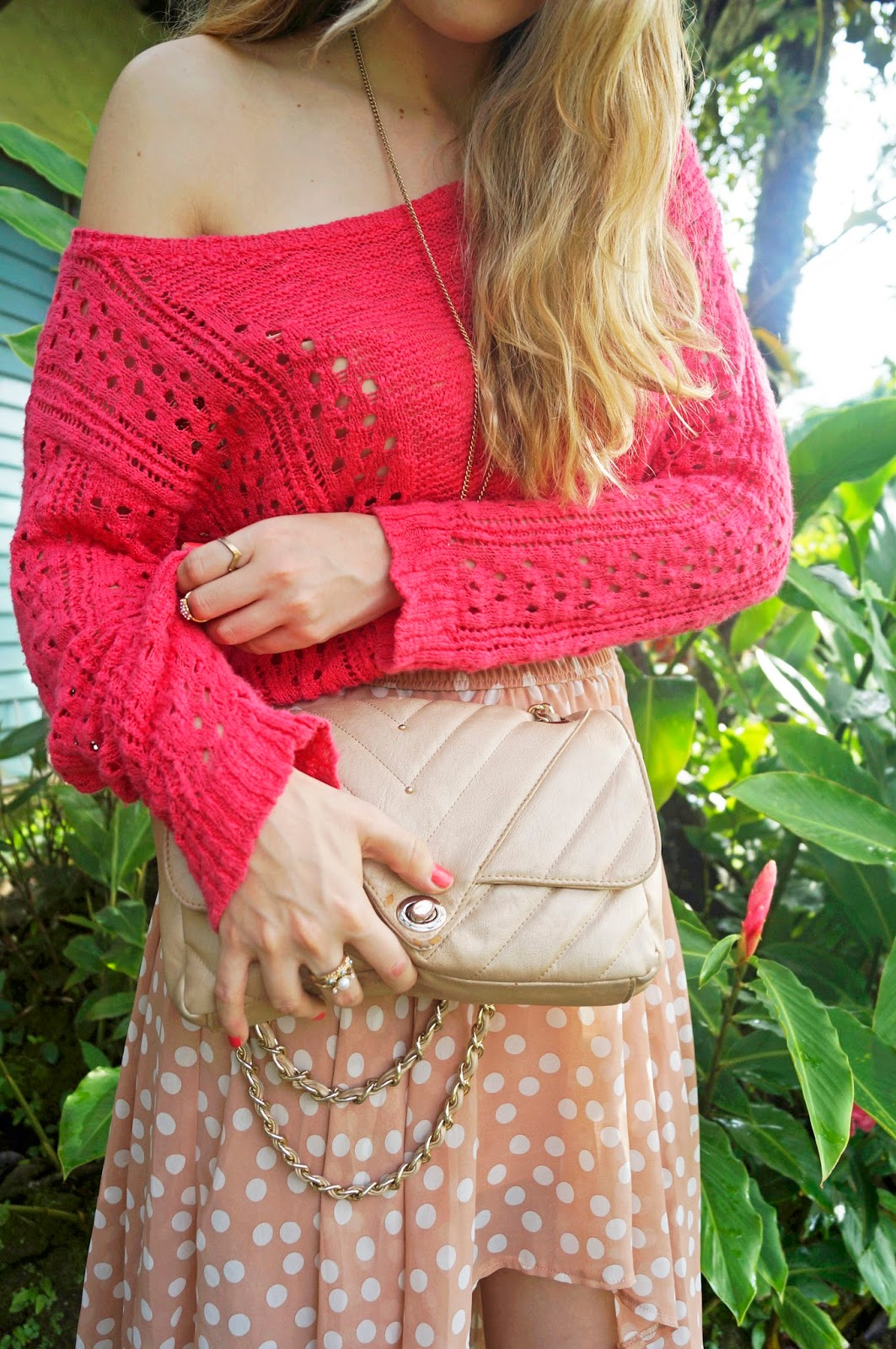 Pair a cozy sweater with a breezy skirt for an unexpected combo!