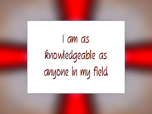 KNOWLEDGE affirmation
