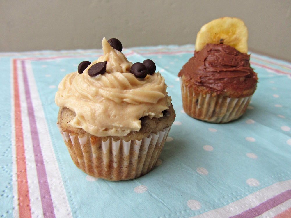 peanut butter cream cheese frosting cupcake