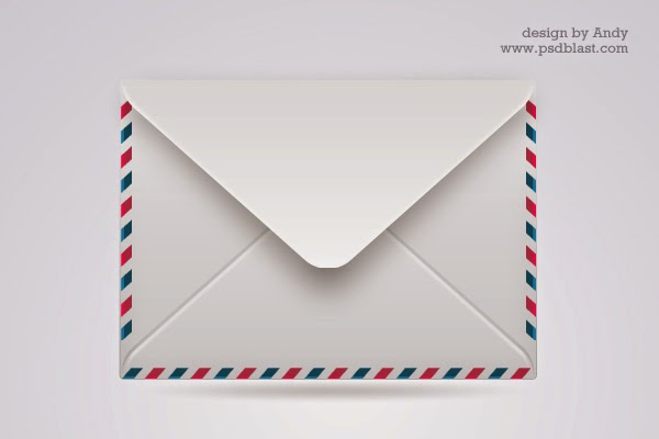 3 Different Color Mail Icon Set PSD