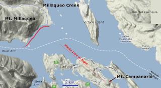 map Millaqueo Bay