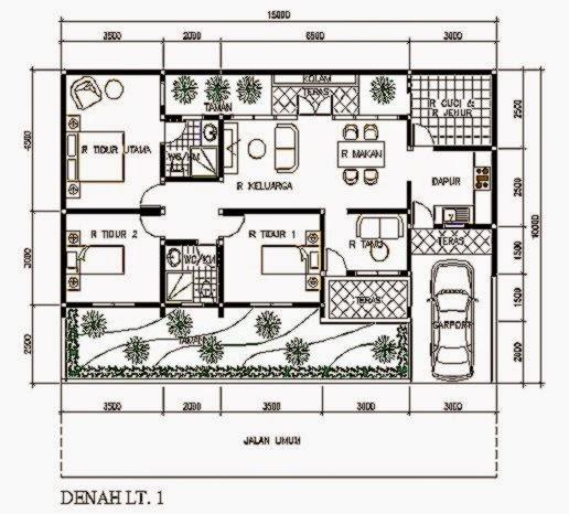 Contoh Gambar Denah Rumah Minimalis 1 Lantai sama dengan subjek