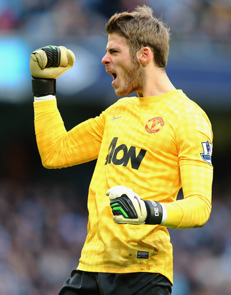David de Gea Manchester City vs Manchester United 2012