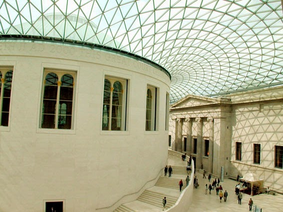 http://commons.wikimedia.org/wiki/File:British_Museum_-_Great_Court_roof_and_Reading_Room_-_geograph.org.uk_-_475758.jpg