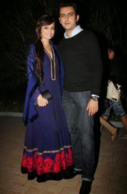 1834 - Designer Diya Mirza Blue Anarkali Suit