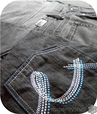ProsperityStuff Black Jeans Quilt accent