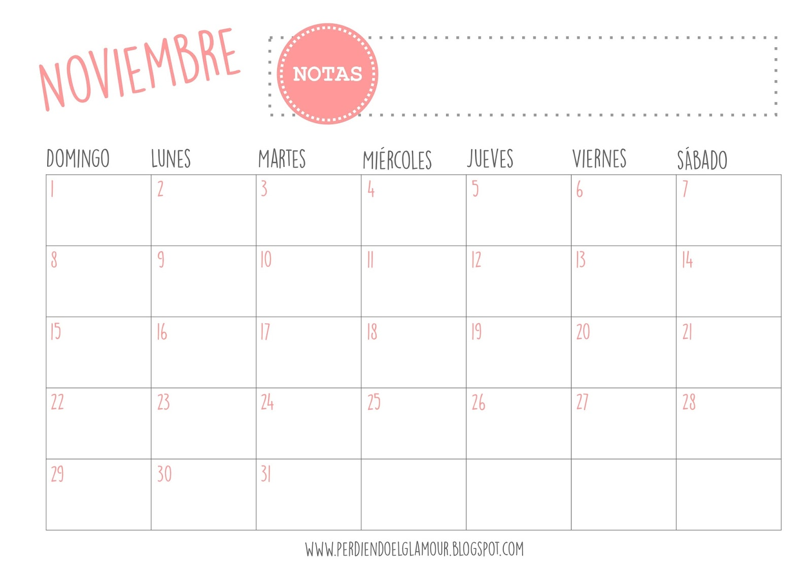 Perdiendo el glamour calendarios imprimibles 2015 - Disenos de calendarios ...