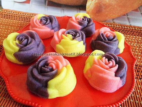 resep bolu kukus mawar bolu kukus santan enak dan lembut yang