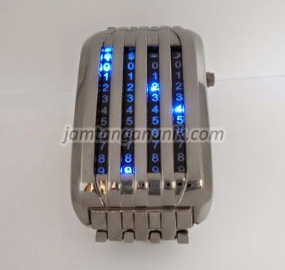 tokyo flash barcode jam tangan dengan animasi kode angka