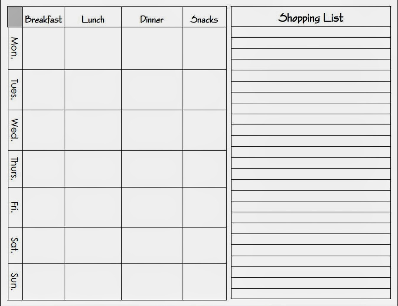 Erickson and Co.: {free download} Printable Meal Planners