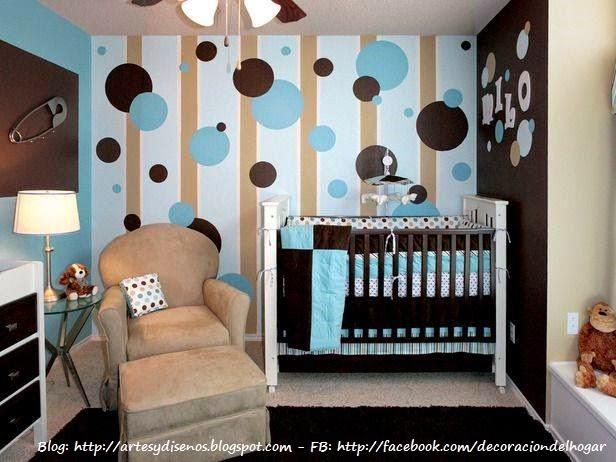 Dormitorios Infantiles con Circulos en las Paredes - Bedrooms Points Circles by artesydisenos.blogspot.com