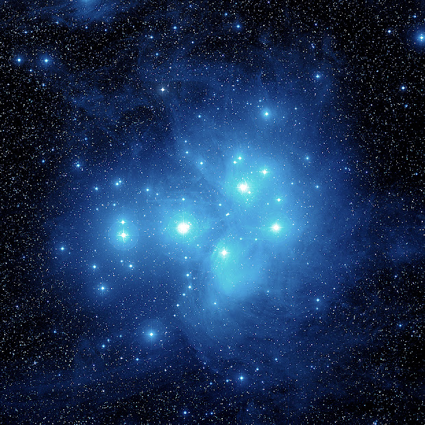M45 hot blue stars and reflection nebulosity in all their splendor!