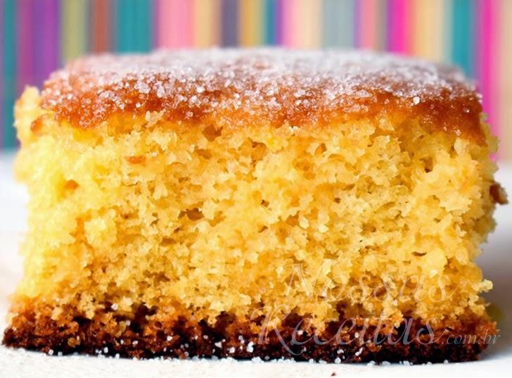 Receita de bolo preparado com laranja