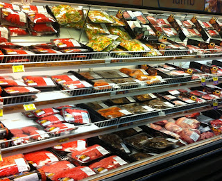 Hawaiian meat counter