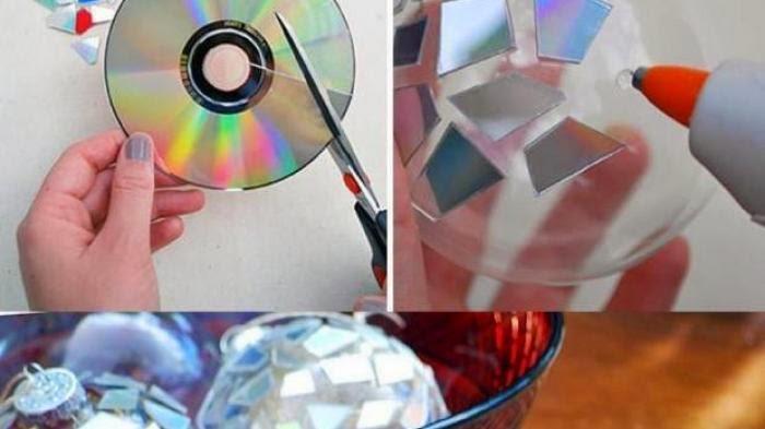 cara memanfaatkan cd bekas