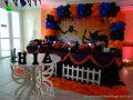 Halloween - mesa decorativa temática para festa de aniversário infantil de meninos e meninas realizado na Barra - Rio de Janeiro (RJ)