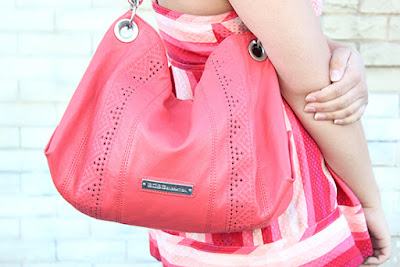 BCBGeneration Coral Hobo Bag