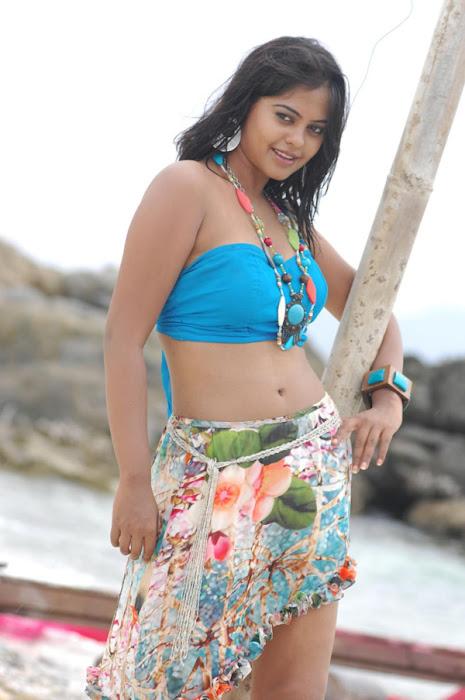 bindu madhavi in spicy beach song unseen pics