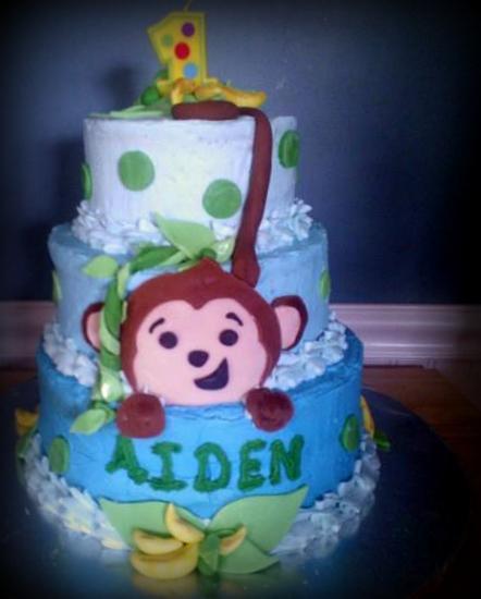 Adirondack Baker Monkey Boy Cake