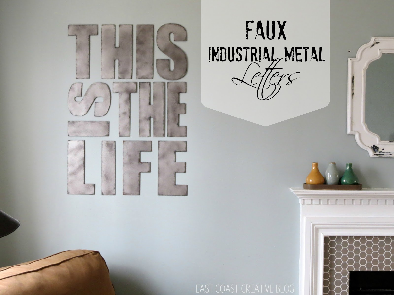 Steel Letters For Walls Industrial Metal Letters Faux Painting  Infarrantly Creative