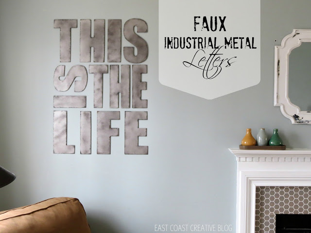 industrial metal letters