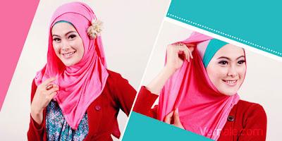 Model Cara Memakai Hijab Jilbab Kerudung Style Pashmina Modern Kaos Simple Cantik