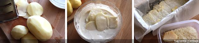 Ziemniak zapiekany ze śmietaną i parmezanem