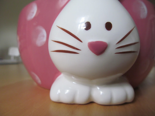 I am kind of obsessed with this bunny bowl.  Just a little.