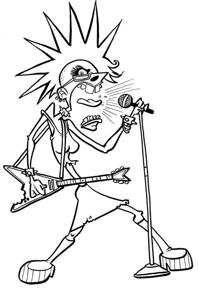 Toon Challenge: Punk Rock Chick ~ Dynasty caricature