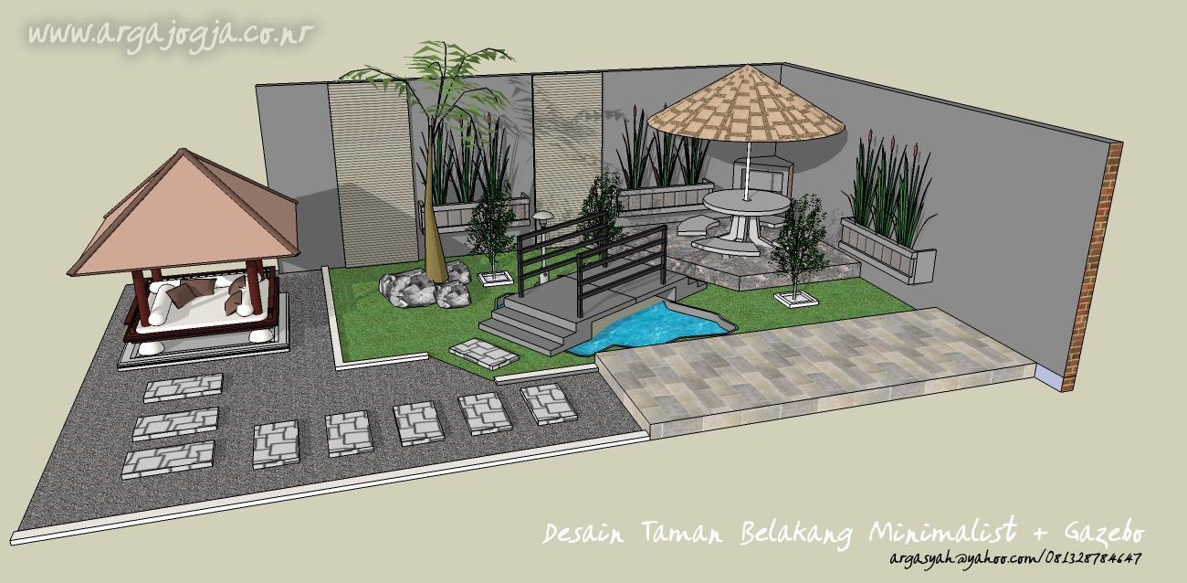 desain taman minimalis 7 gambar taman