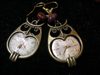 Steampunk Owl Earrings