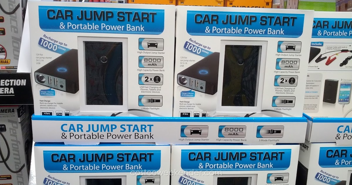 Car Jump Start and Portable Power Bank | Costco Weekender