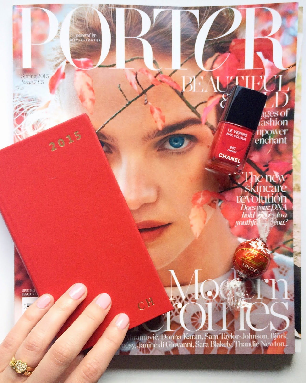 porter magazine, aspinal of london, aspinal of london diary, chanel nail polish, chanel polish red
