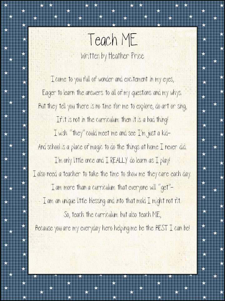Inspirational Poems For Teachers Photograph Teaching Blog