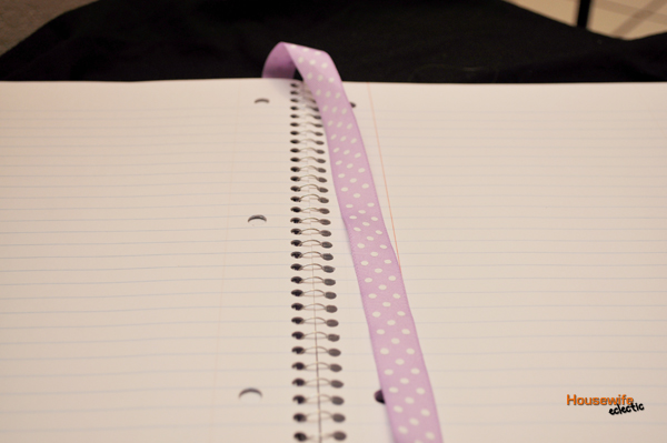 Scrapbook paper covered journals with ribbon bookmark for How to tie a ribbon on a bookmark